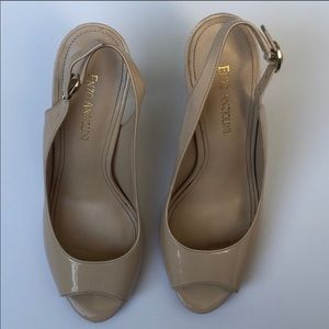 Enzo Angiolini Mykell Heels Patent Leather Nude 8